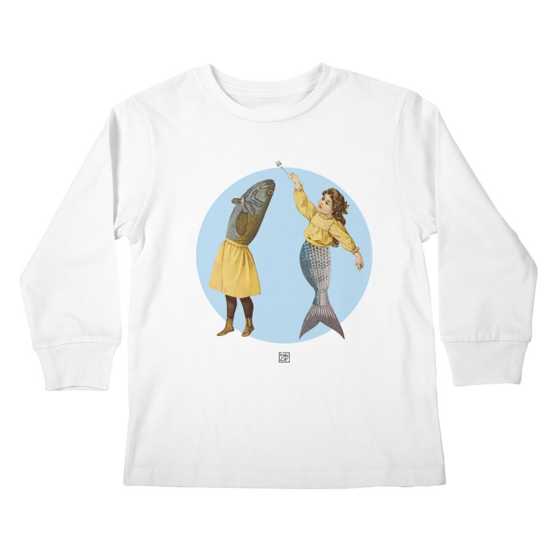 Mer...maid? Kids Longsleeve T-Shirt by sigmablade collage