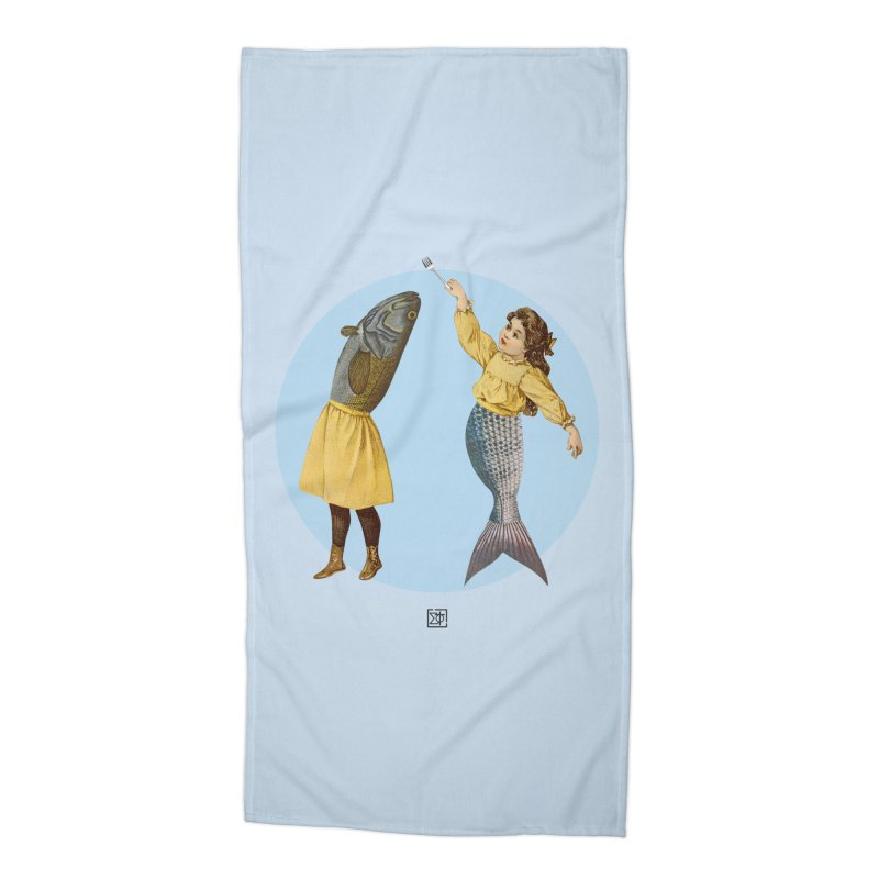 Mer...maid? Accessories Beach Towel by sigmablade collage