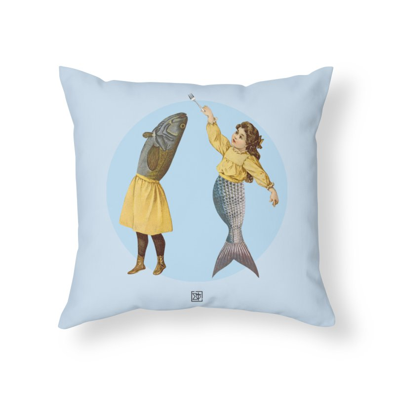 Mer...maid? Home Throw Pillow by sigmablade collage