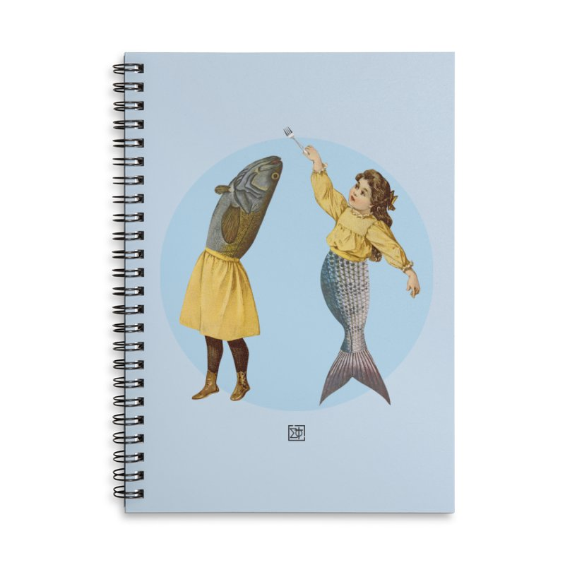 Mer...maid? Accessories Lined Spiral Notebook by sigmablade collage
