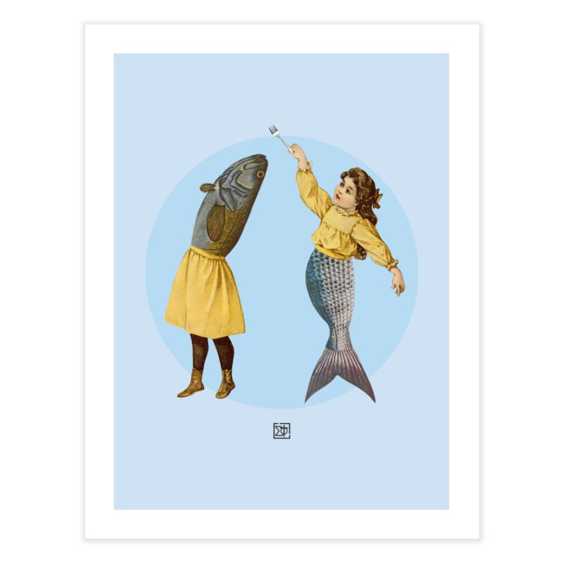 Mer...maid? Home Fine Art Print by sigmablade collage