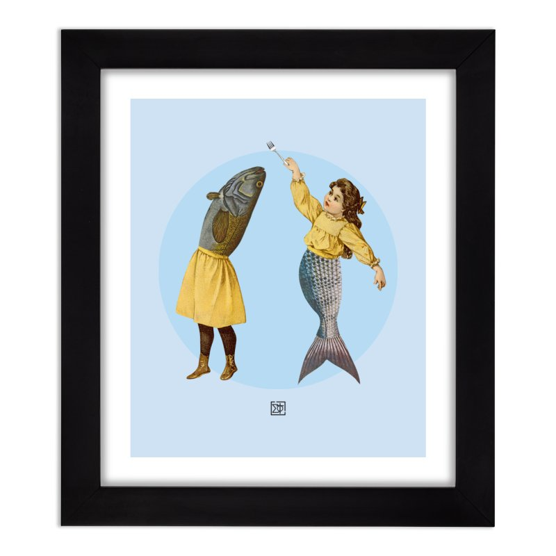 Mer...maid? Home Framed Fine Art Print by sigmablade collage