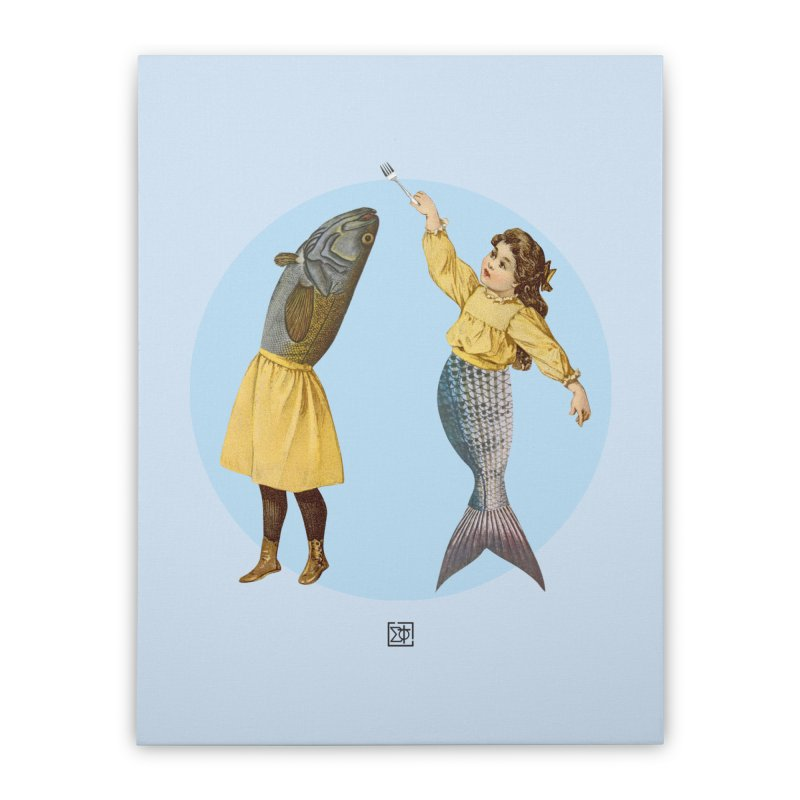 Mer...maid? Home Stretched Canvas by sigmablade collage