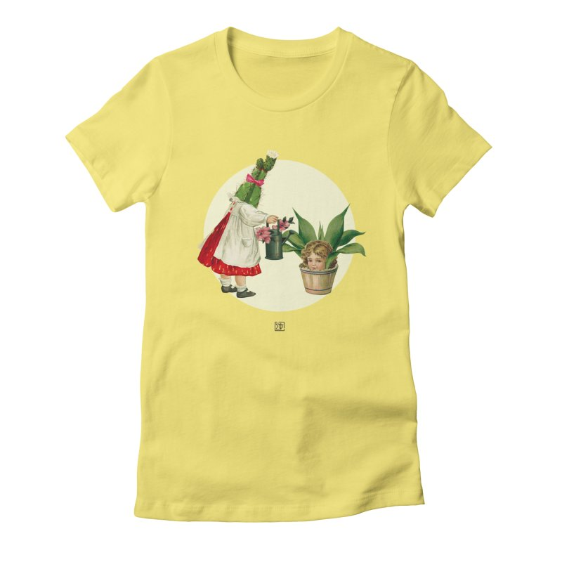 Growing my Head Women's Fitted T-Shirt by sigmablade collage