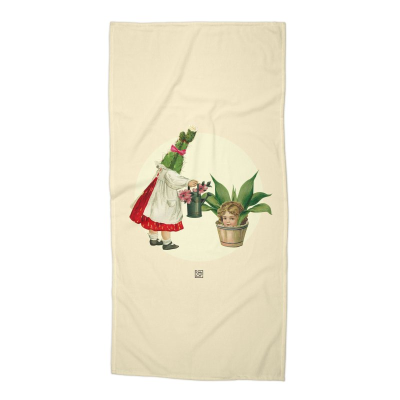 Growing my Head Accessories Beach Towel by sigmablade collage