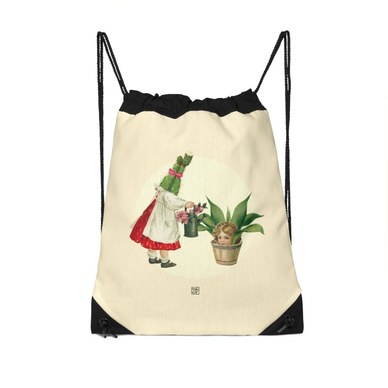 Growing my Head Accessories Drawstring Bag Bag by sigmablade collage