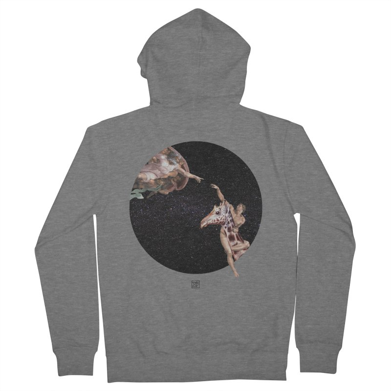 God Creates Adam Women's Zip-Up Hoody by sigmablade collage