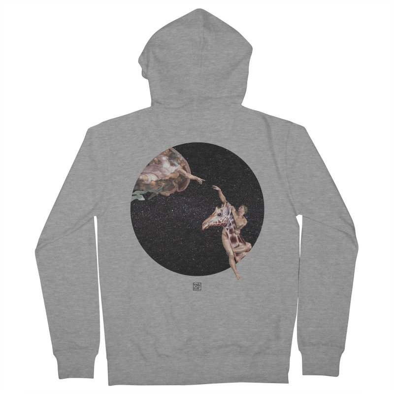 God Creates Adam Women's French Terry Zip-Up Hoody by sigmablade collage