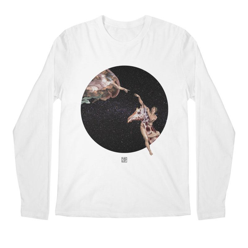 God Creates Adam Men's Regular Longsleeve T-Shirt by sigmablade collage