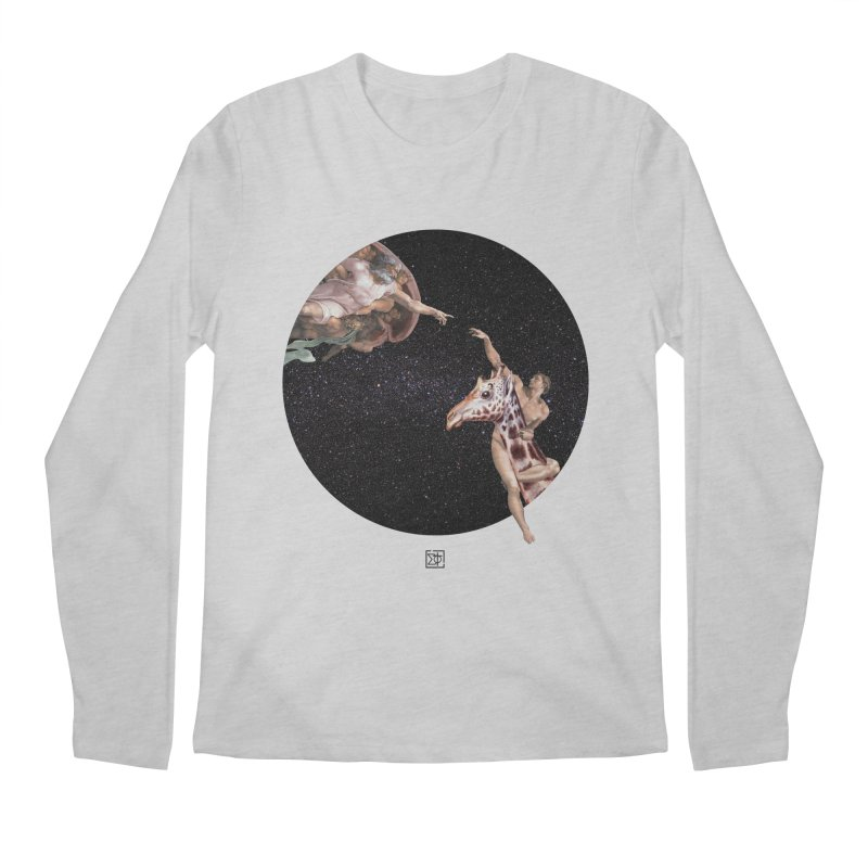 God Creates Adam Men's Longsleeve T-Shirt by sigmablade collage