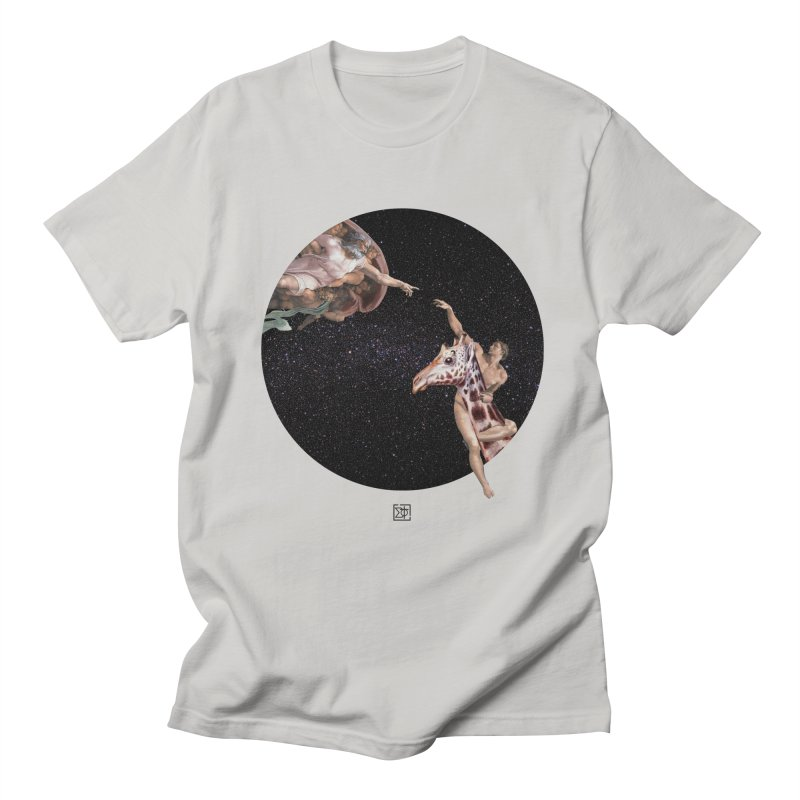 God Creates Adam Men's Regular T-Shirt by sigmablade collage