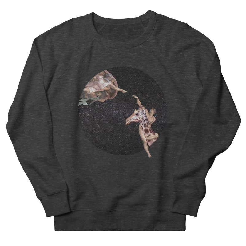 God Creates Adam Women's French Terry Sweatshirt by sigmablade collage