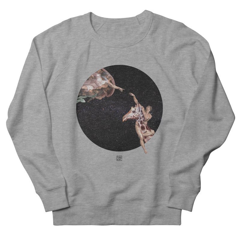 God Creates Adam Men's French Terry Sweatshirt by sigmablade collage