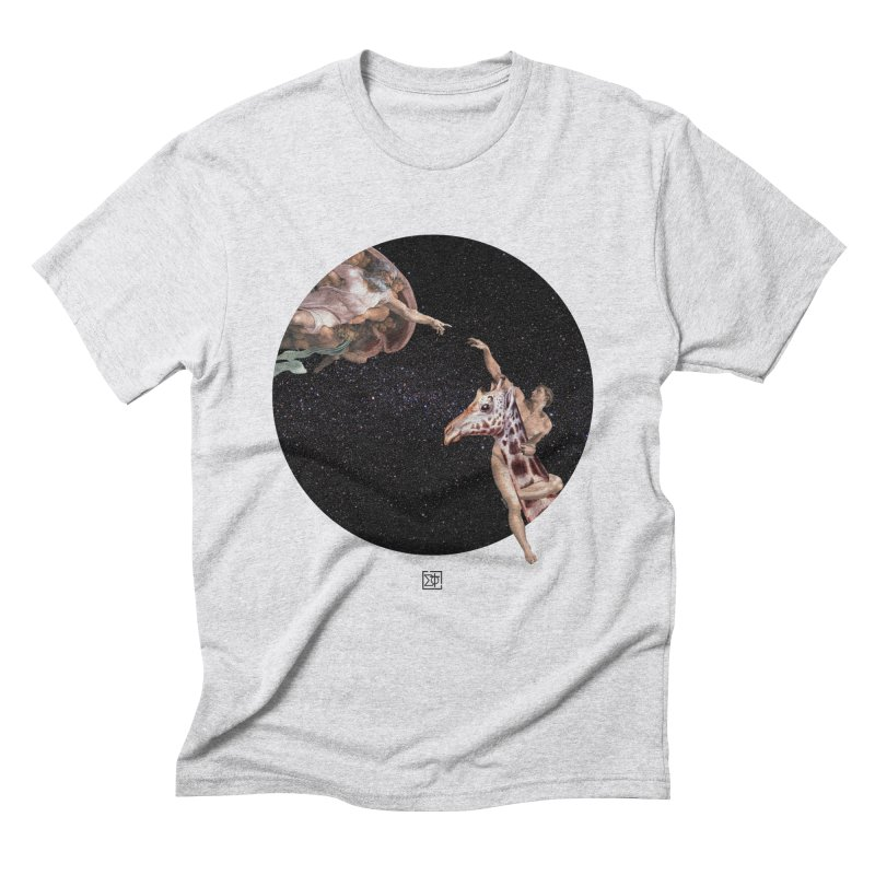 God Creates Adam Men's Triblend T-Shirt by sigmablade collage