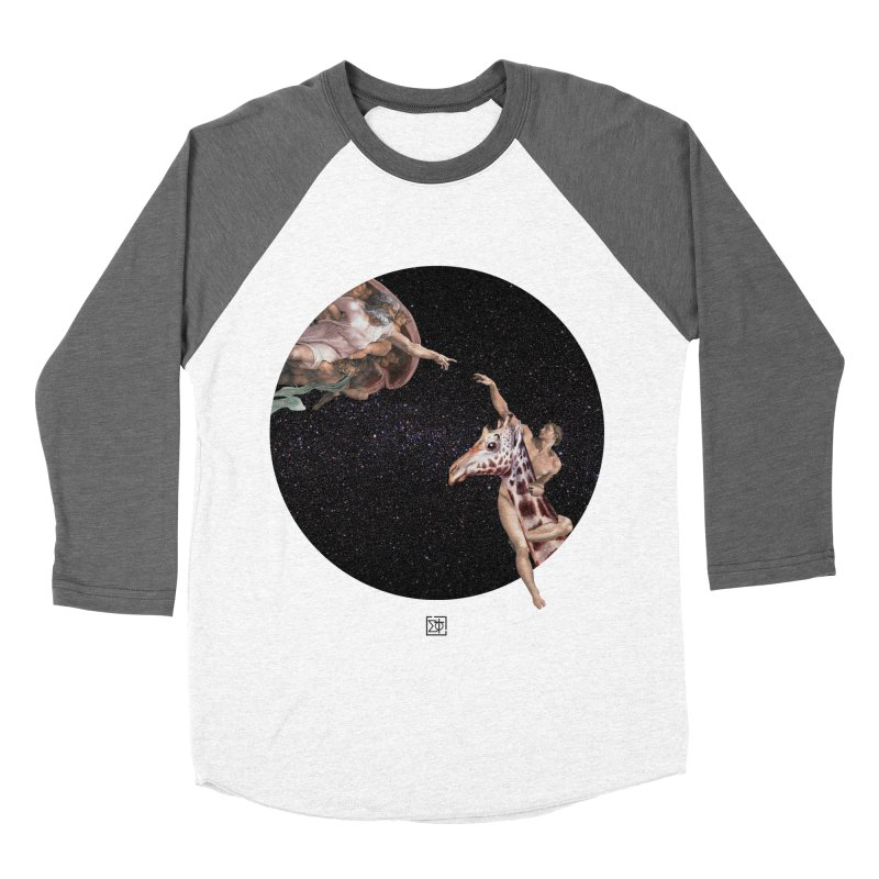 God Creates Adam Women's Baseball Triblend Longsleeve T-Shirt by sigmablade collage