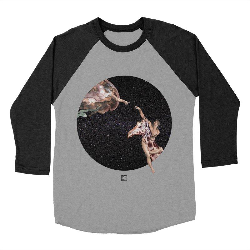 God Creates Adam Women's Baseball Triblend T-Shirt by sigmablade collage