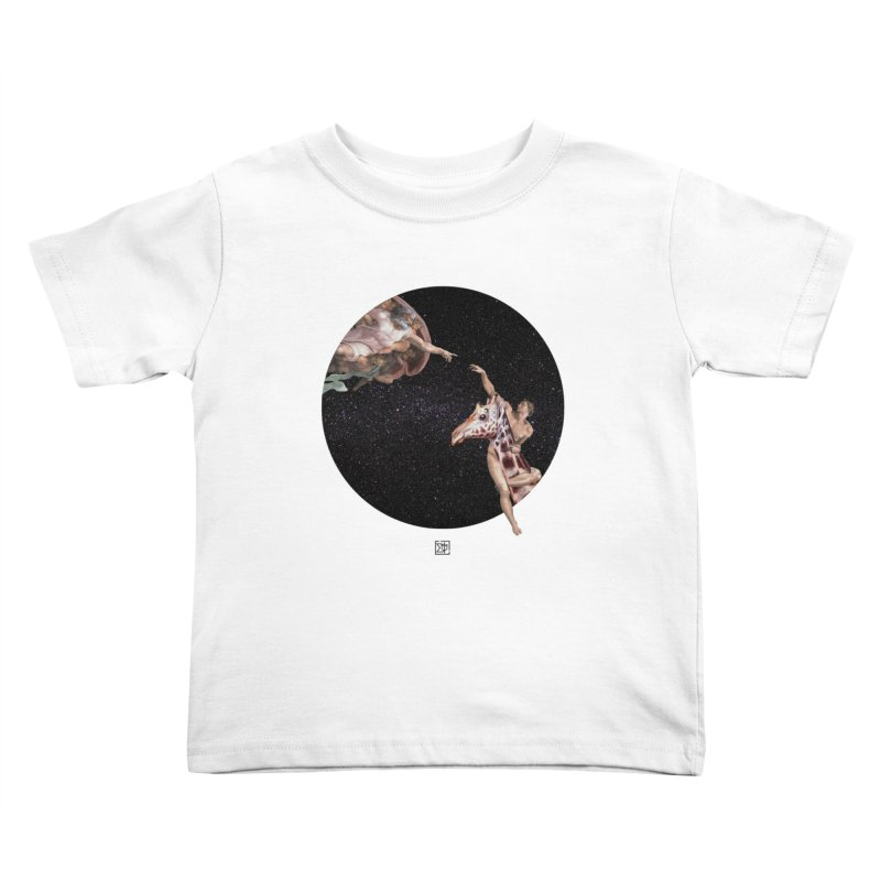 God Creates Adam Kids Toddler T-Shirt by sigmablade collage