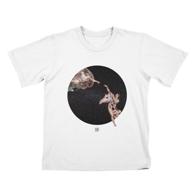 God Creates Adam Kids T-shirt by sigmablade collage