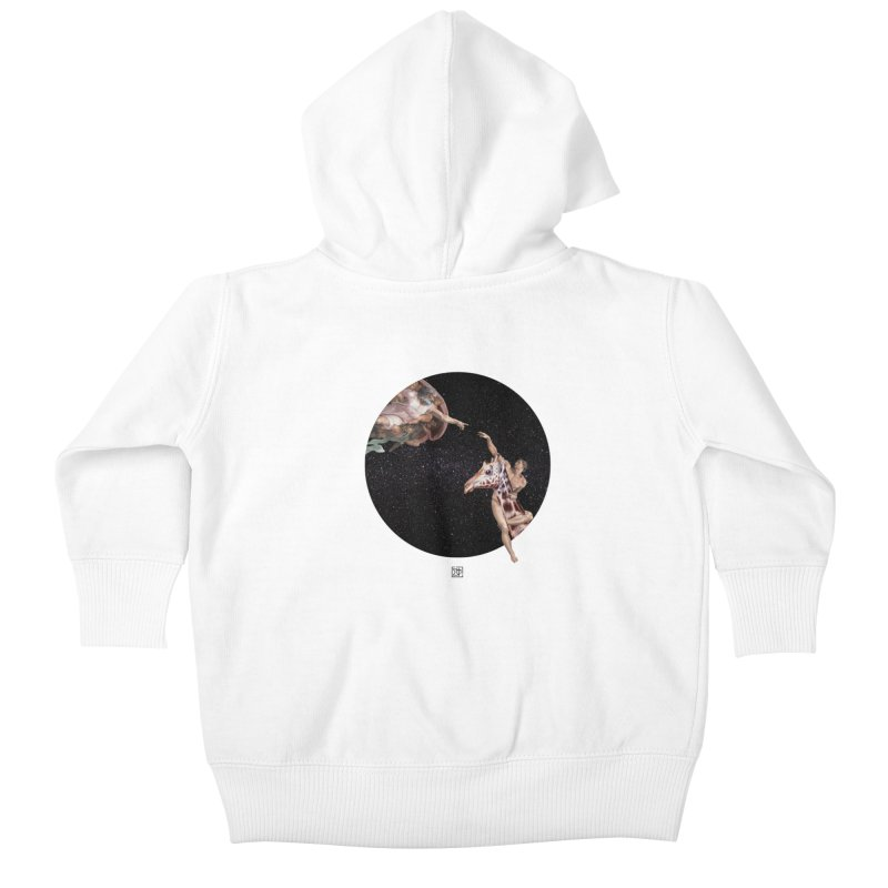 God Creates Adam Kids Baby Zip-Up Hoody by sigmablade collage