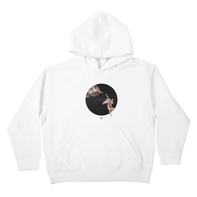 God Creates Adam Kids Pullover Hoody by sigmablade collage
