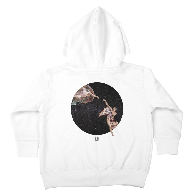 God Creates Adam Kids Toddler Zip-Up Hoody by sigmablade collage