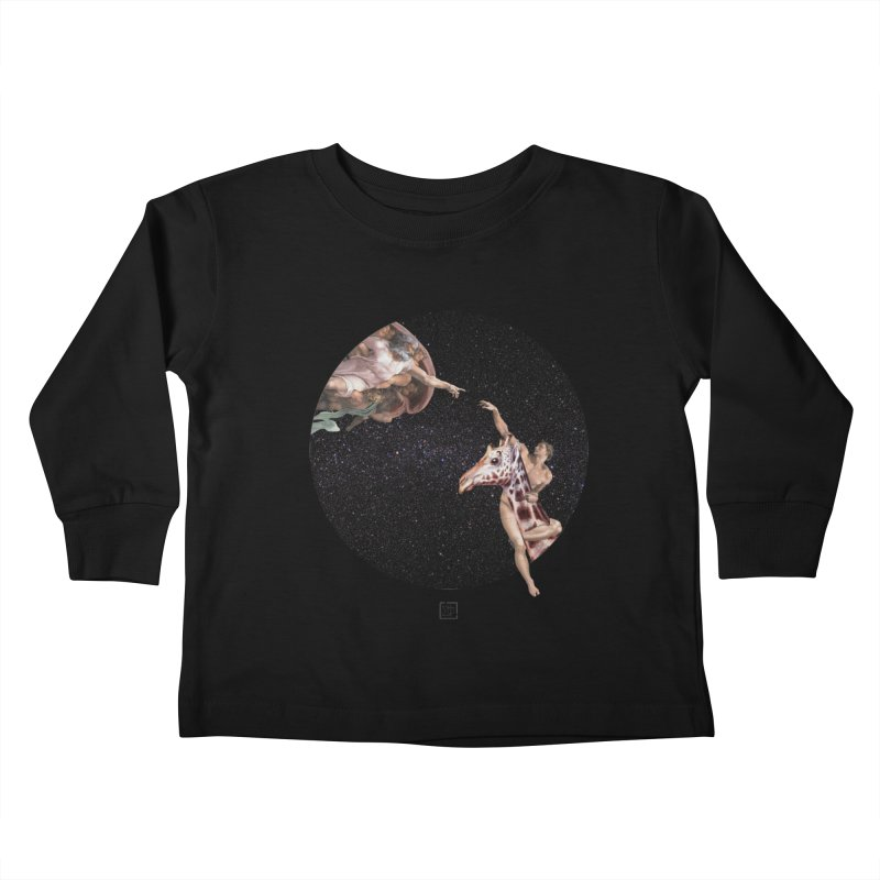 God Creates Adam Kids Toddler Longsleeve T-Shirt by sigmablade collage