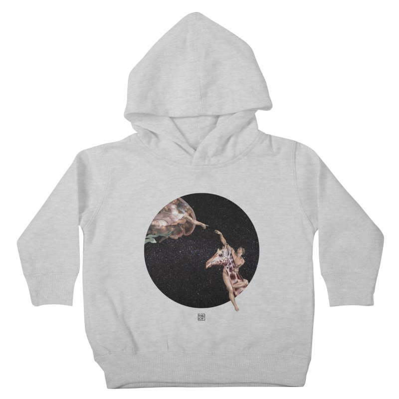 God Creates Adam Kids Toddler Pullover Hoody by sigmablade collage