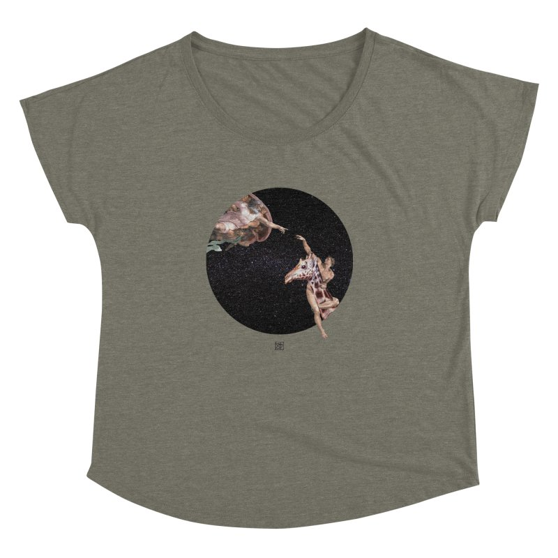 God Creates Adam Women's Dolman Scoop Neck by sigmablade collage