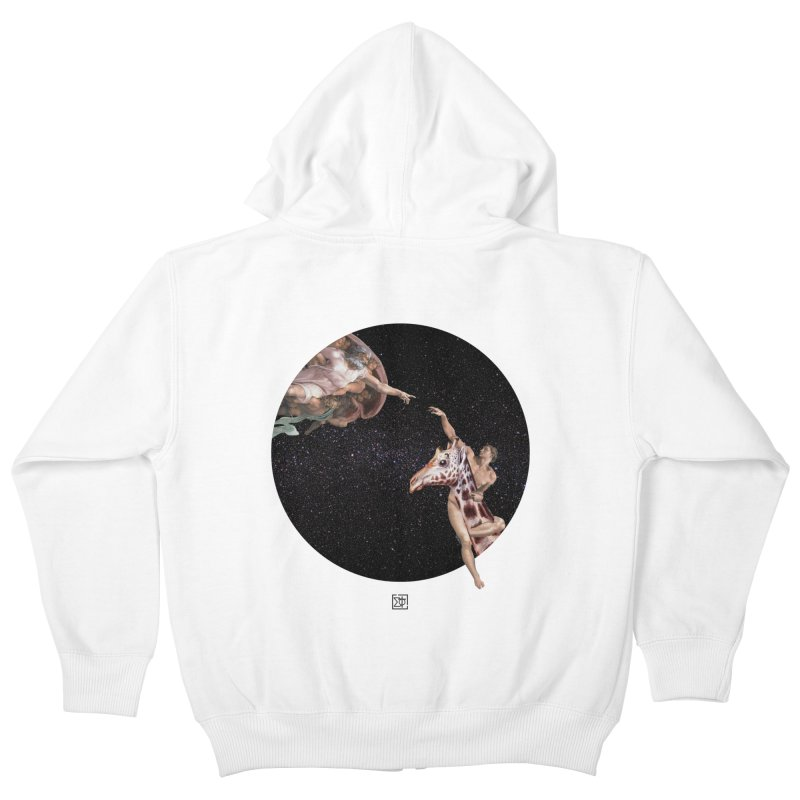 God Creates Adam Kids Zip-Up Hoody by sigmablade collage