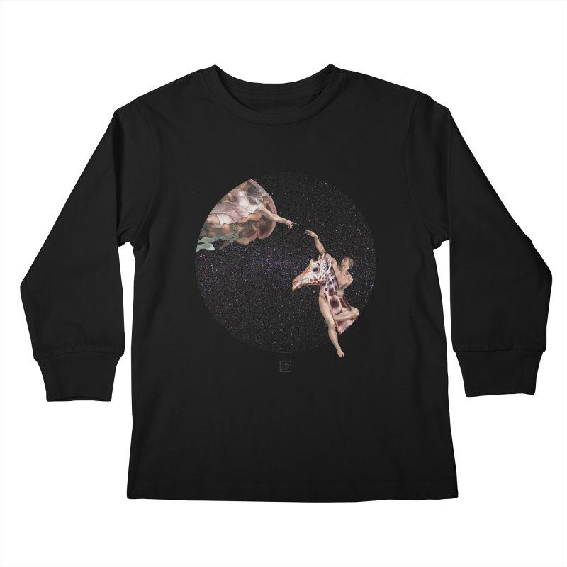 God Creates Adam Kids Longsleeve T-Shirt by sigmablade collage