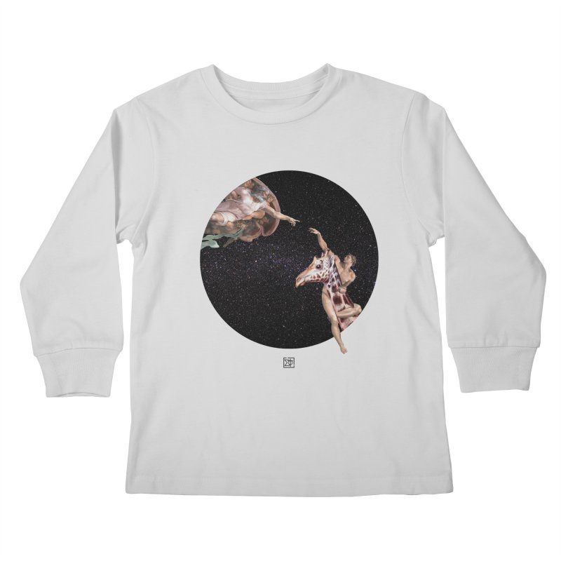 God Creates Adam Kids Longsleeve T-Shirt by sigmablade collage