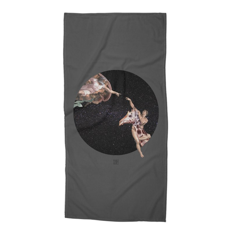 God Creates Adam Accessories Beach Towel by sigmablade collage