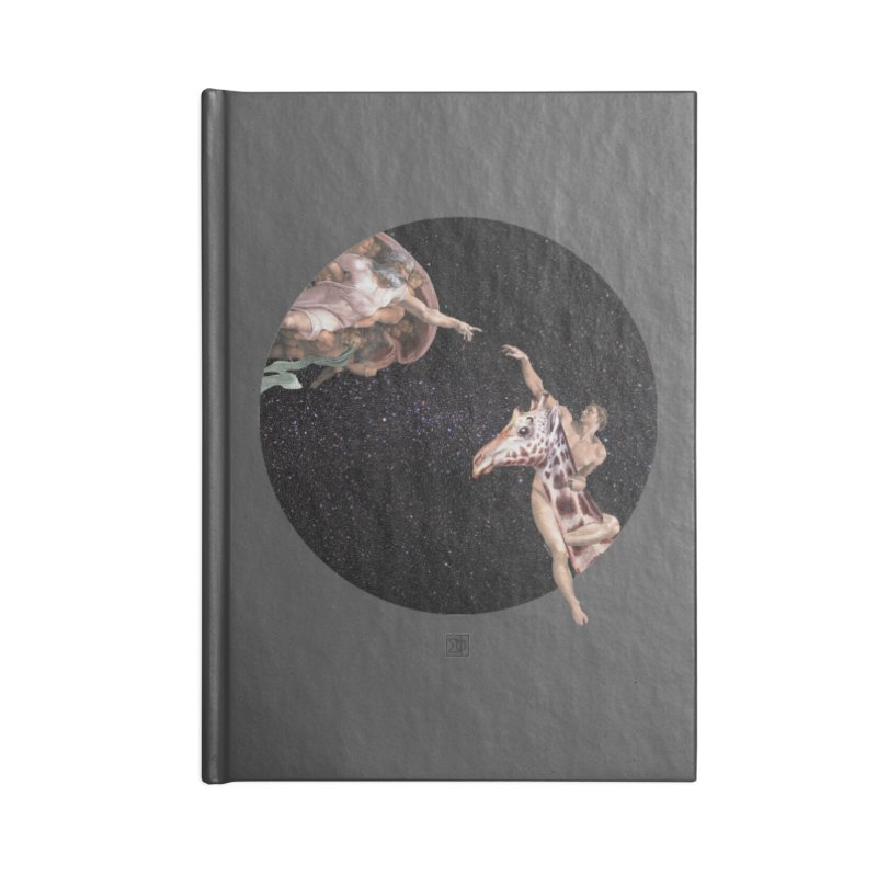 God Creates Adam Accessories Lined Journal Notebook by sigmablade collage