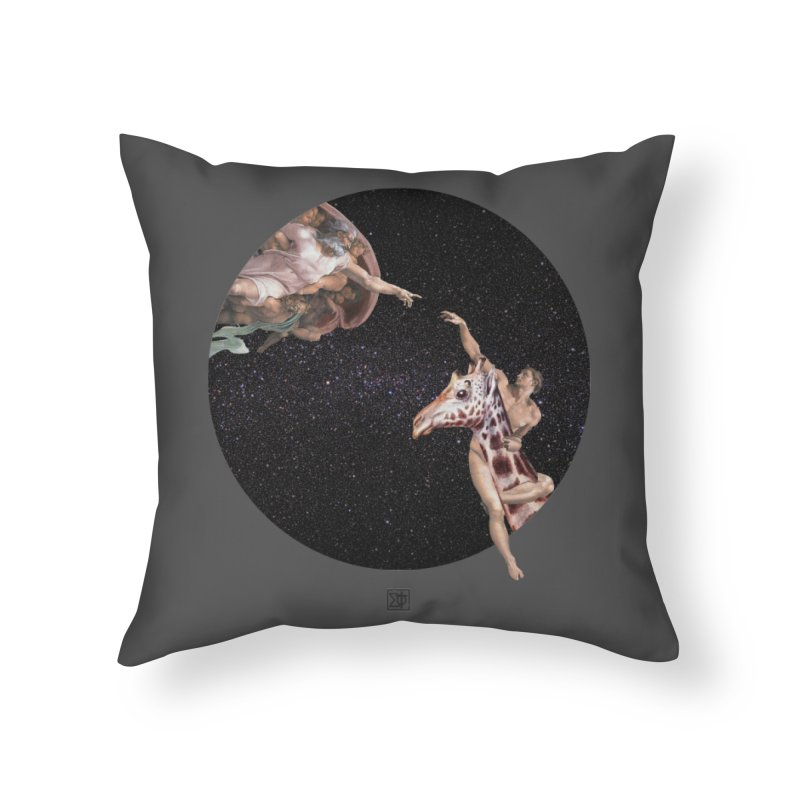 God Creates Adam Home Throw Pillow by sigmablade collage