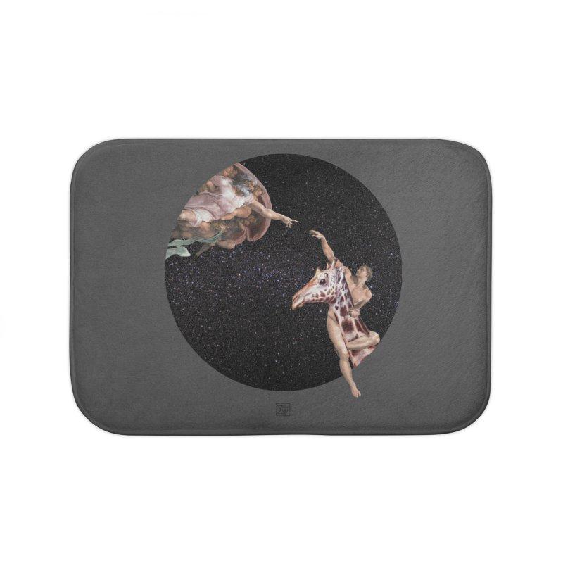 God Creates Adam Home Bath Mat by sigmablade collage