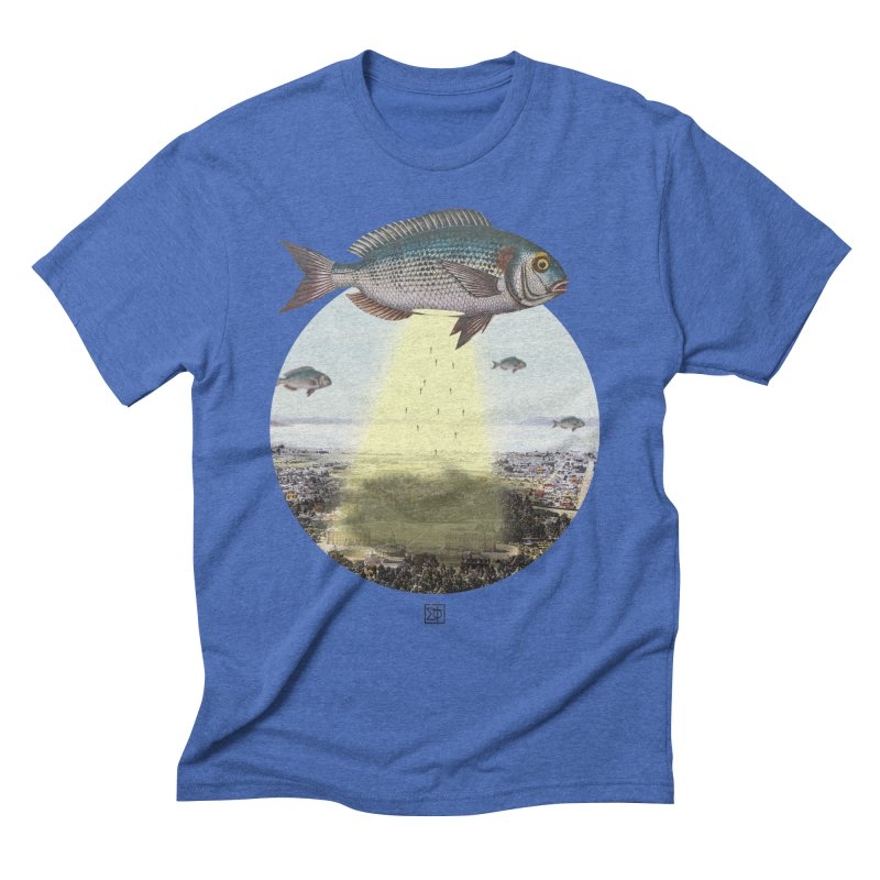 A Fishy Abduction Men's T-Shirt by sigmablade collage