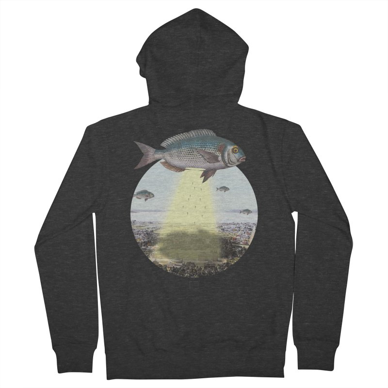 A Fishy Abduction Women's Zip-Up Hoody by sigmablade collage