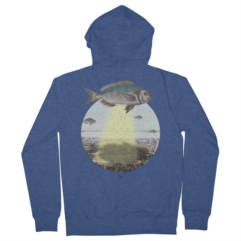 A Fishy Abduction Men's French Terry Zip-Up Hoody by sigmablade collage