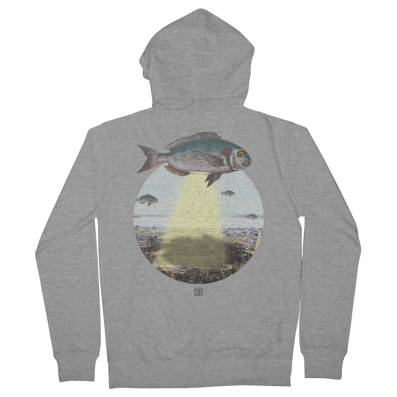 A Fishy Abduction Men's Zip-Up Hoody by sigmablade collage