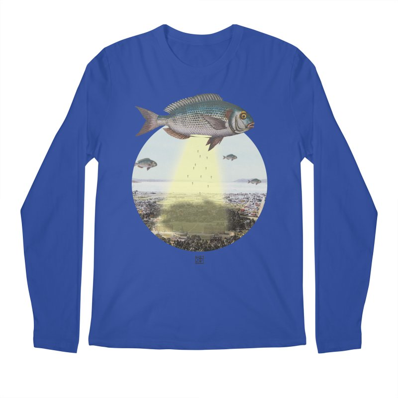 A Fishy Abduction Men's Longsleeve T-Shirt by sigmablade collage