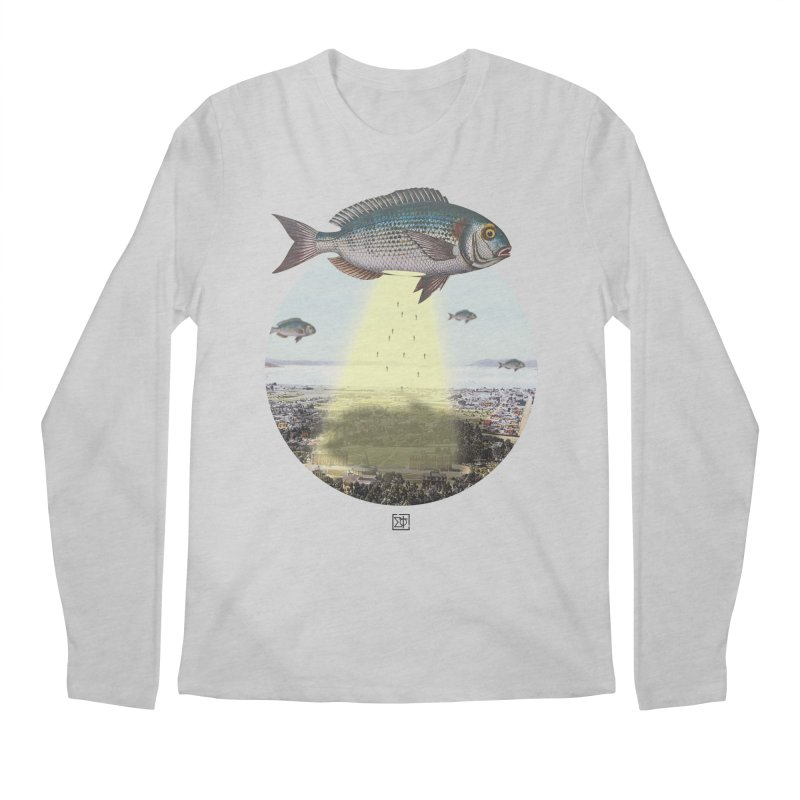 A Fishy Abduction Men's Regular Longsleeve T-Shirt by sigmablade collage