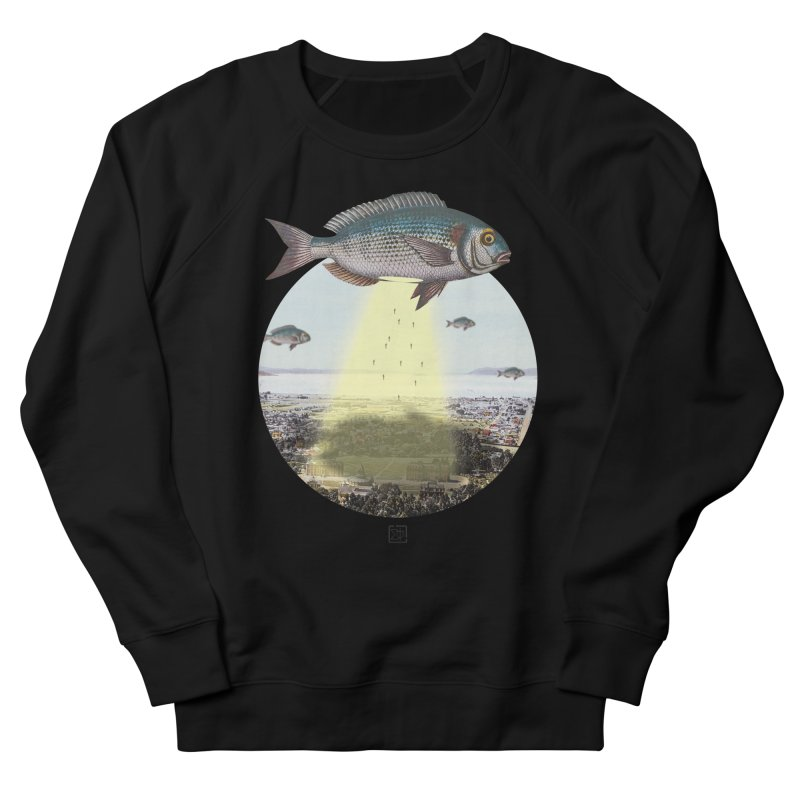 A Fishy Abduction Women's French Terry Sweatshirt by sigmablade collage
