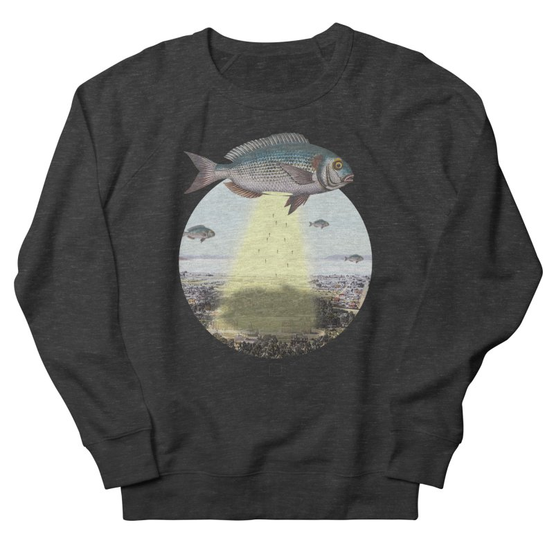 A Fishy Abduction Men's Sweatshirt by sigmablade collage