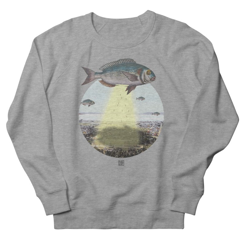 A Fishy Abduction Men's French Terry Sweatshirt by sigmablade collage