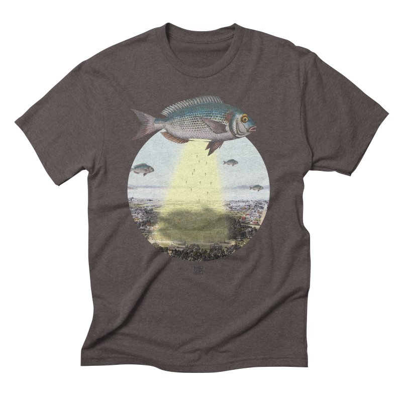 A Fishy Abduction Men's Triblend T-Shirt by sigmablade collage
