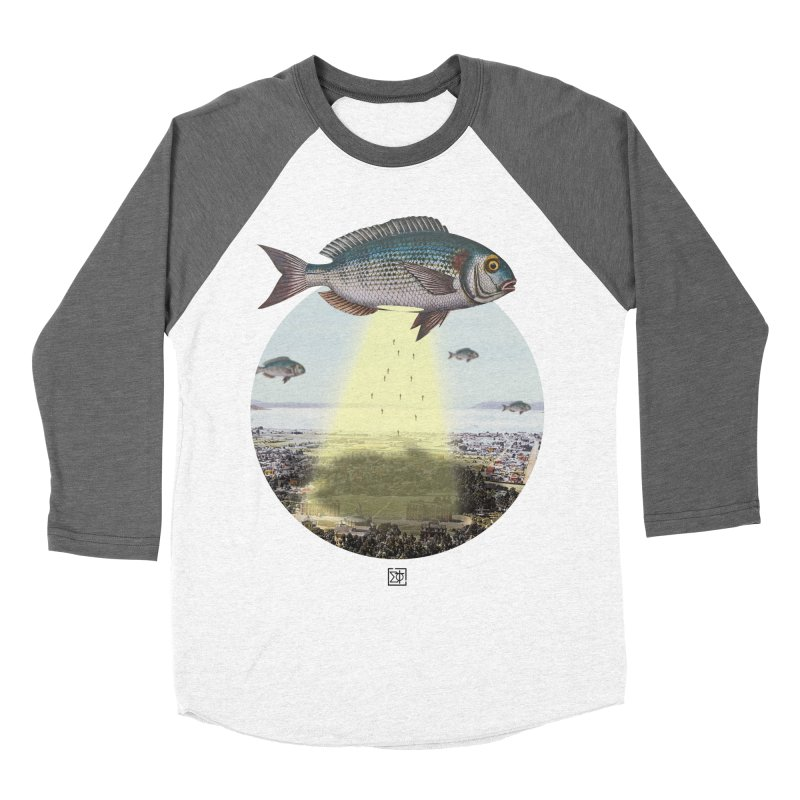 A Fishy Abduction Women's Baseball Triblend T-Shirt by sigmablade collage