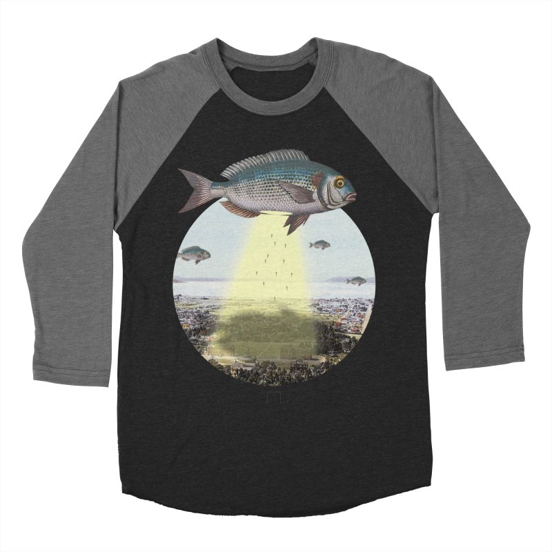 A Fishy Abduction Men's Baseball Triblend T-Shirt by sigmablade collage