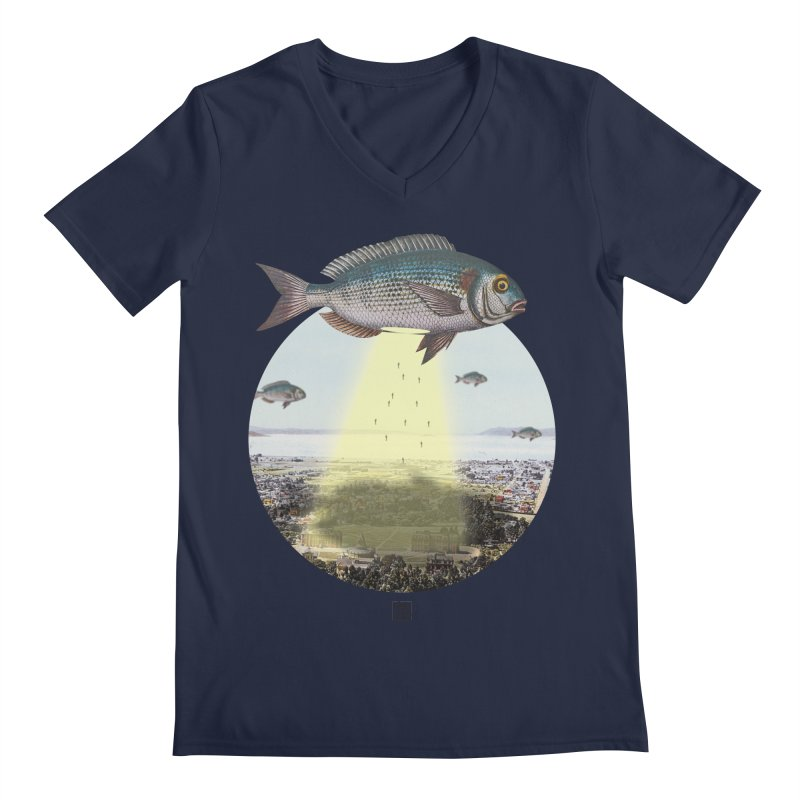 A Fishy Abduction Men's V-Neck by sigmablade collage