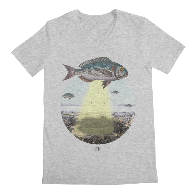 A Fishy Abduction Men's Regular V-Neck by sigmablade collage