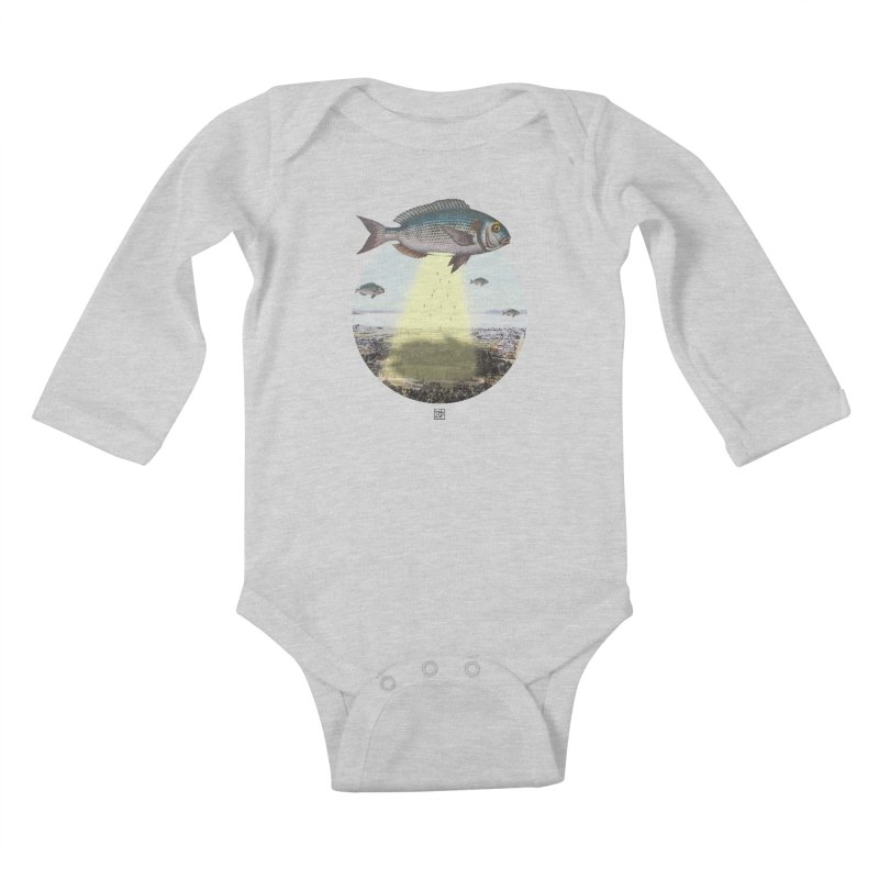 A Fishy Abduction Kids Baby Longsleeve Bodysuit by sigmablade collage